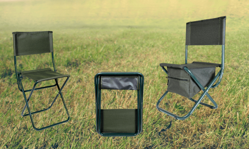 Раскладные стульчики со спинкой
