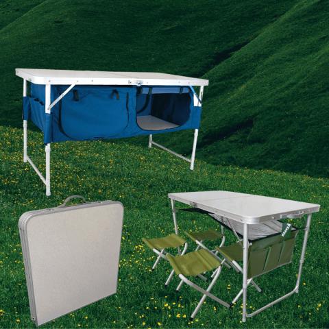 Раскладные столы и наборы раскладной мебели стол и 4 стула «Ranger»