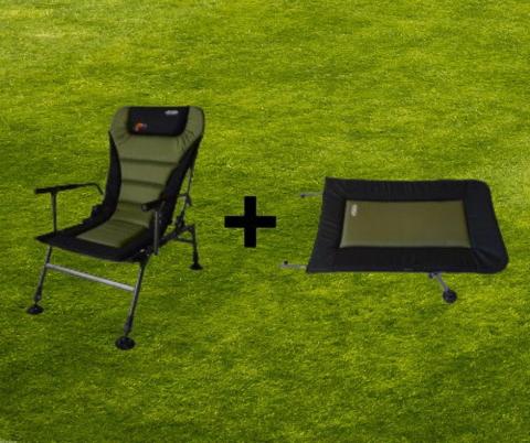 Кресло карповое Novator SR-2 Comfort + подставка Novator POD-1 Comfort