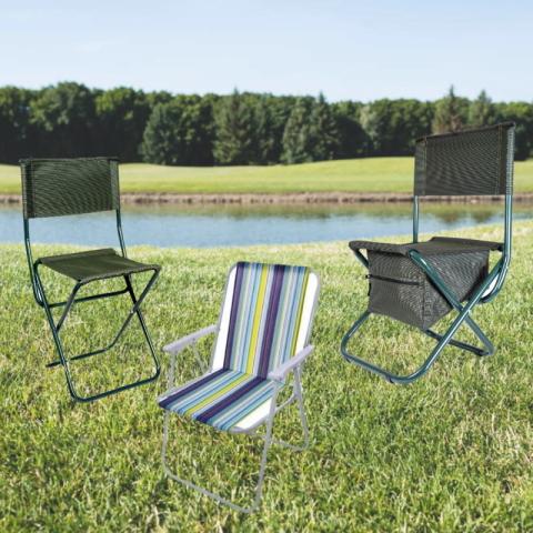 Рыбацкие раскладные стульчики для с подлокотниками и спинкой